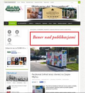 Baner nad publikacjami
