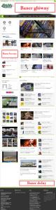 Screen całej strony banery główne