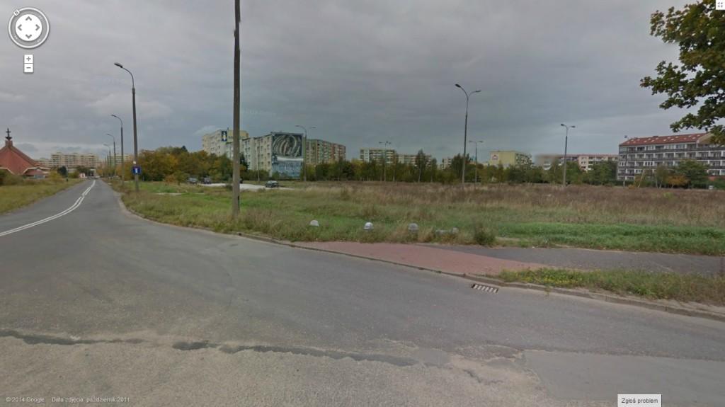 Miejsce, w którym powstanie nowe osiedle Fot. Google Maps