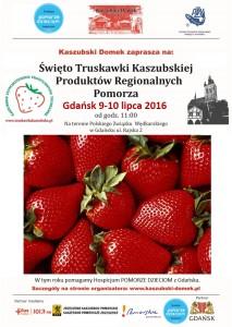 Plakat - IV Święto Truskawki Kaszubskiej w Gdańsku 2016 nowy